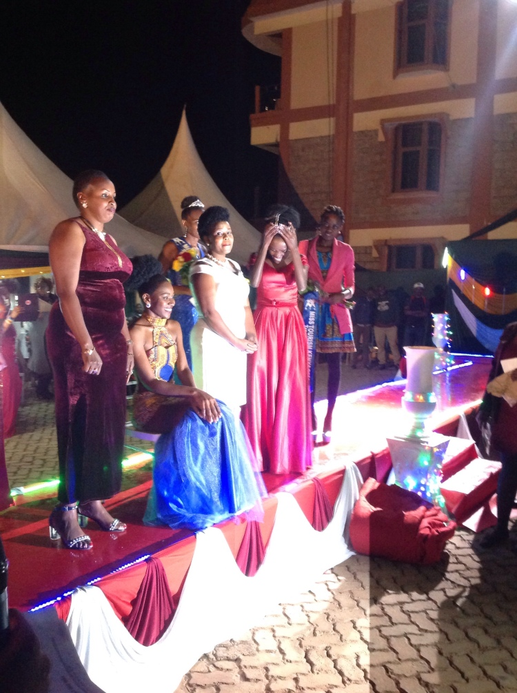 Miss Tourism Trans Nzoia County with thefirst ladyduring the crowning.